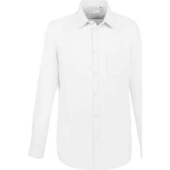 Odjeća Muškarci  Košulje dugih rukava Sols BOSTON FIT BLANCO Blanco