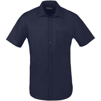 Odjeća Muškarci  Košulje kratkih rukava Sols BRISTOL FIT Azul Oscuro Azul