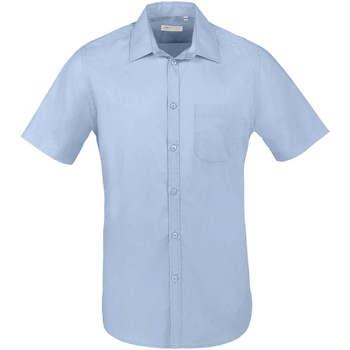 Odjeća Muškarci  Košulje kratkih rukava Sols BRISTOL FIT Azul Cielo Azul