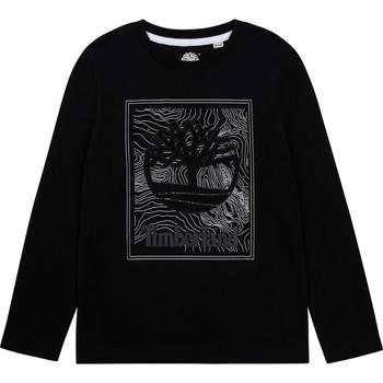 Odjeća Dječak  Majice dugih rukava Timberland BAGIRI Crna