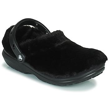 Obuća Žene  Klompe Crocs CLASSIC FUR SURE Crna