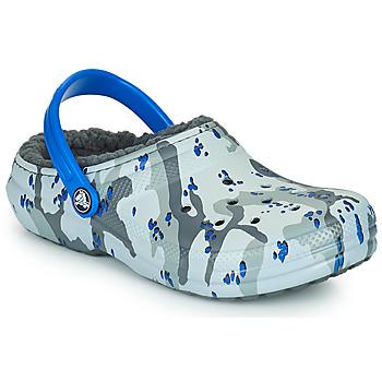 Obuća Dječak  Klompe Crocs CLASSIC LINED CAMO CG K Siva / Blue