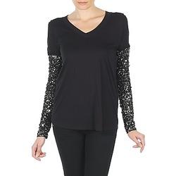 Odjeća Žene  Majice dugih rukava Manoush TSHIRT ML INDIAN BASIC Crna