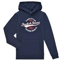 Odjeća Dječak  Sportske majice Jack & Jones JJELOGO SWEAT HOOD Blue