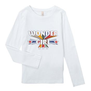 Odjeća Djevojčica Majice dugih rukava Only KONTINNA Bijela