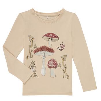 Odjeća Djevojčica Majice dugih rukava Name it NMFTHUMPER ALFRIDA LS TOP Bež