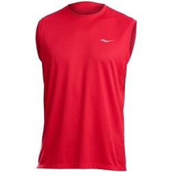Odjeća Muškarci  Majice s naramenicama i majice bez rukava Saucony SAM800216 Red
