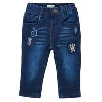 Odjeća Dječak  Traperice ravnog kroja Ikks ACIER Blue / Zagasita