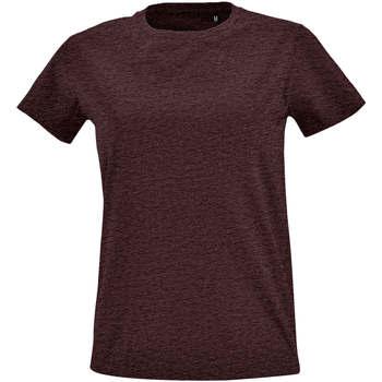Odjeća Žene  Majice kratkih rukava Sols Camiseta IMPERIAL FIT color Oxblood Otros