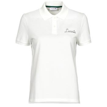 Odjeća Žene  Polo majice kratkih rukava Lacoste PF7251 Bijela