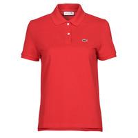 Odjeća Žene  Polo majice kratkih rukava Lacoste POLO REGULAR FIT PF7839 Red