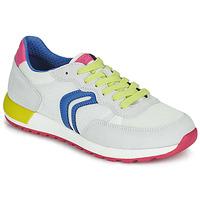 Obuća Djevojčica Niske tenisice Geox J ALBEN GIRL Bijela / Blue / Ružičasta