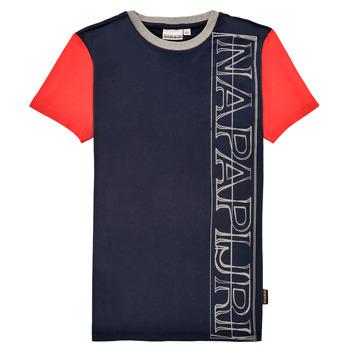Odjeća Dječak  Majice kratkih rukava Napapijri SAOBAB Red