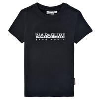Odjeća Dječak  Majice kratkih rukava Napapijri S-BOX SS Crna