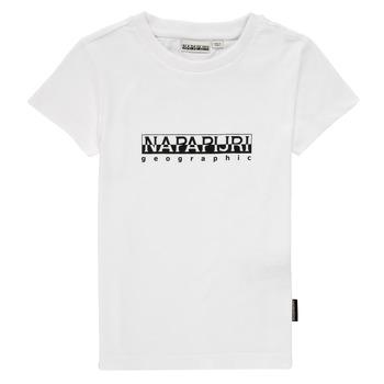 Odjeća Dječak  Majice kratkih rukava Napapijri S-BOX SS Bijela