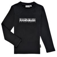 Odjeća Dječak  Majice dugih rukava Napapijri S-BOX LS Crna