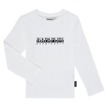 Odjeća Dječak  Majice dugih rukava Napapijri S-BOX LS Bijela