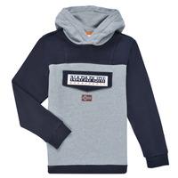 Odjeća Dječak  Sportske majice Napapijri BURGEE Siva / Crna
