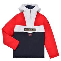 Odjeća Dječak  Parke Napapijri RAINFOREST POCKET Blue / Bijela / Red