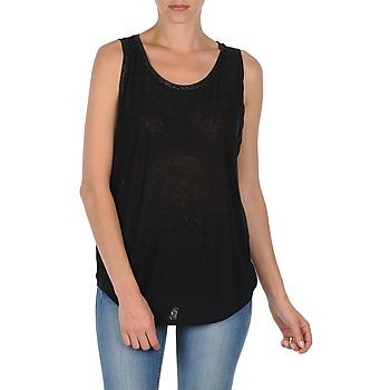 Odjeća Žene  Majice s naramenicama i majice bez rukava Majestic MANON Crna
