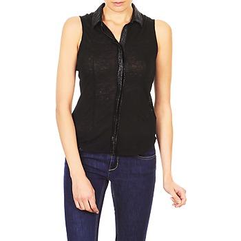 Odjeća Žene  Košulje kratkih rukava Majestic ZOE Crna