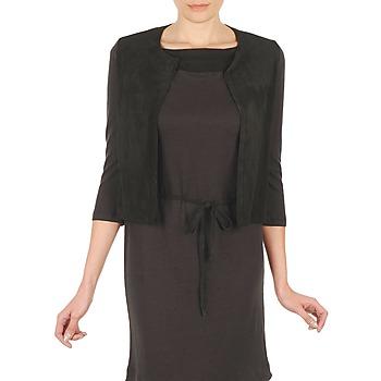 Odjeća Žene  Veste i kardigani Majestic BERENICE Crna