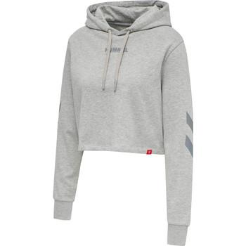 Odjeća Žene  Sportske majice Hummel Sweatshirt à capuche femme  hmlLEGACY cropped gris