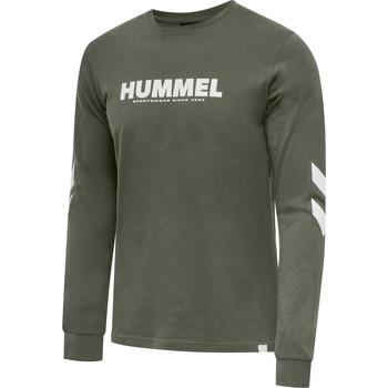Odjeća Muškarci  Majice dugih rukava Hummel T-shirt manches longues  hmlLEGACY vert kaki/blanc