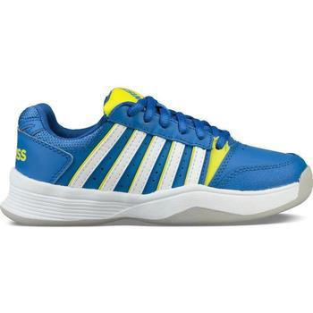 Obuća Djeca Tenis K-Swiss Chaussures enfant  ks tfw court smash bleu foncé/jaune/blanc