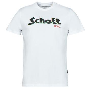 Odjeća Muškarci  Majice kratkih rukava Schott TSLOGOELEK Bijela