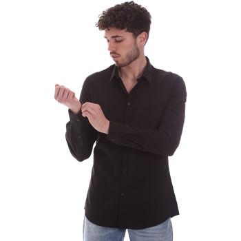 Odjeća Muškarci  Košulje dugih rukava Gaudi 111GU45001 Crno