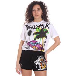Odjeća Žene  Bermude i kratke hlače Disclaimer 21EDS50639 Bijela