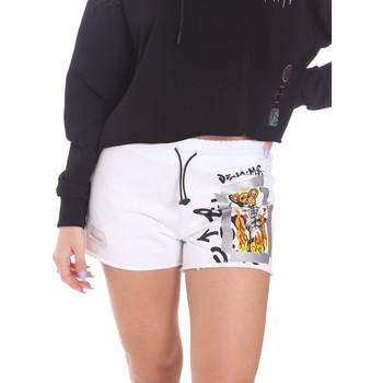 Odjeća Žene  Bermude i kratke hlače Disclaimer 21EDS50650 Bijela