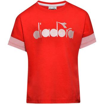 Odjeća Djeca Majice kratkih rukava Diadora 102175914 Crvena