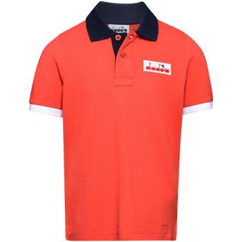 Odjeća Djeca Polo majice kratkih rukava Diadora 102175907 Crvena
