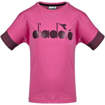 Odjeća Djeca Majice kratkih rukava Diadora 102175914 Ružičasta