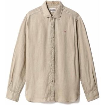 Odjeća Muškarci  Košulje dugih rukava Napapijri NP0A4F81 Bež