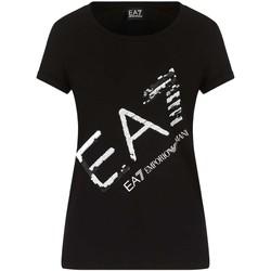 Odjeća Žene  Majice kratkih rukava Ea7 Emporio Armani 3KTT28 TJ12Z Crno