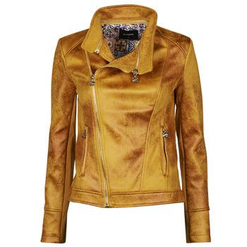 Odjeća Žene  Kožne i sintetičke jakne Desigual MARBLE Žuta
