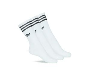 Donje rublje Visoke čarape adidas Originals SOLID CREW SOCK X3 Bijela