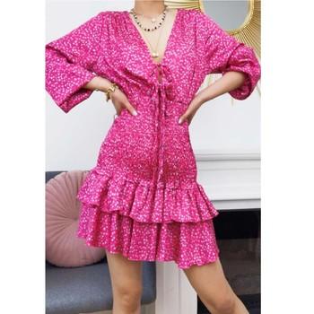 Odjeća Žene  Kratke haljine Fashion brands 22974-FUSHIA Fuchsiová