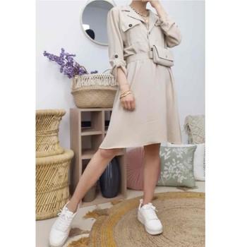 Odjeća Žene  Kratke haljine Fashion brands CD2293-BEIGE Bež