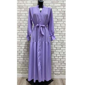 Odjeća Žene  Duge haljine Fashion brands 2155-LILAS Ljubičasta