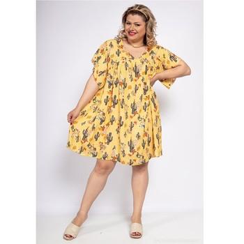 Odjeća Žene  Kratke haljine Fashion brands DIABOLE-COLOR-ONE-JAUNE Žuta