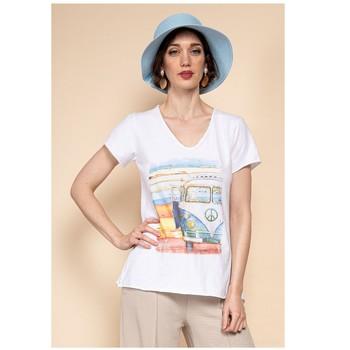 Odjeća Žene  Topovi i bluze Fashion brands 8301-COMBI-SKY-BLUE Blue