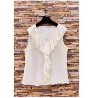 Odjeća Žene  Topovi i bluze Fashion brands ERMD-13797-CP-BLANC Bijela