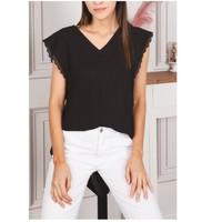 Odjeća Žene  Topovi i bluze Fashion brands F2106-BLACK Crna