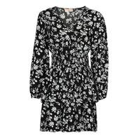 Odjeća Žene  Kratke haljine Moony Mood PAPIS Crna / Bijela
