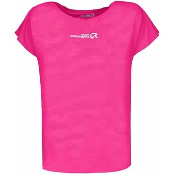 Odjeća Žene  Majice kratkih rukava Rock Experience T-shirt Femme  Re.Spirit rose fluo