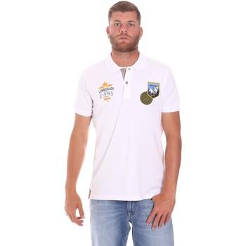 Odjeća Muškarci  Polo majice kratkih rukava Lumberjack CM45940 019EU Bijela